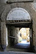 La Piccola Gerusalemme (Little Jerusalem) Jewish community, Pitigliano, Tuscany, Italy