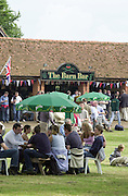 Henley on Thames, United kingdom,   G.V's down the course  - The Barn Enclousure and Barn Bar. Annual 2002 Henley Royal Regatta, Henley Reach, River Thames, England, [Mandatory Credit: Peter Spurrier/Intersport Images] 20020703 Henley Royal Regatta, Henley, Great Britain