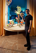 Andrew Yes, honorary designer of BOFFO Show House 2012, Andrew Yes and Eduardo Garza Underwater Coral series, Eduardo Garza 24K gold-plated Philosopher's Skull
