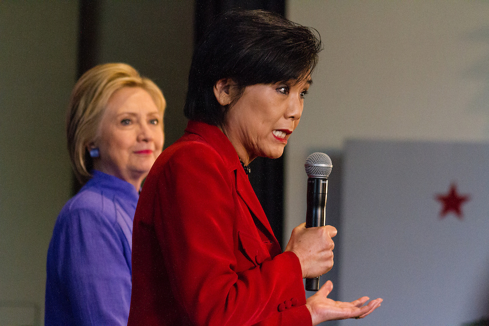 Congresswoman Judy Chu speaking about why she likes Hillary Clinton and why she should be President. June 3rd, 2016 in Westminster California.