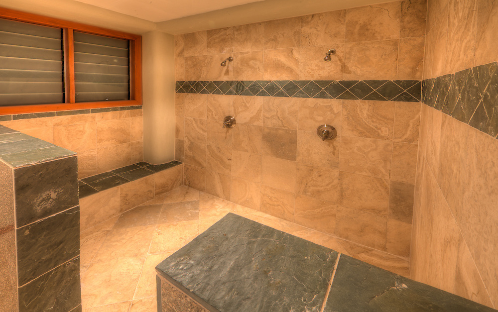 Luxury Hotel Bathroom and Shower with Marble and Granite, Fiji