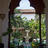 Central America, Nicaragua, Granada. Courtyard of Granada.