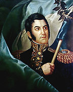 Portrait of General Jose de San Martin (circa 1829)) possibly by Jean Baptiste Madou. José Francisco de San Martín, known simply as Don José de San Martín (c. 1778 – 17 August 1850), was an Argentine general and the prime leader of the southern part of South America's successful struggle for independence from Spain.