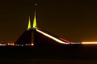 The Bob Graham Sunshine Skyway Bridge which crosses Tampa Bay on Florida's Gulf Coast.