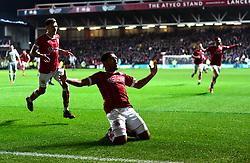 Korey Smith of Bristol City celebrates  his winning goal  - Mandatory by-line: Joe Meredith/JMP - 20/12/2017 - FOOTBALL - Ashton Gate Stadium - Bristol, England - Bristol City v Manchester United - Carabao Cup Quarter Final