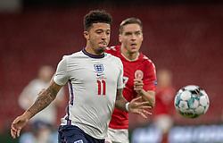 Jadon Sancho (England) under UEFA Nations League kampen mellem Danmark og England den 8. september 2020 i Parken, København (Foto: Claus Birch).