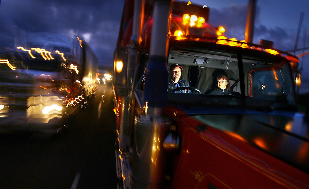 NOT BE USED BY AFR BEFORE 08-05-2008.Two up, long haul truck driving couple John and Robyn Garrard on the Calder Highway  .Pic By Craig Sillitoe SPECIALX 000 melbourne photographers, commercial photographers, industrial photographers, corporate photographer, architectural photographers, This photograph can be used for non commercial uses with attribution. Credit: Craig Sillitoe Photography / http://www.csillitoe.com<br /> <br /> It is protected under the Creative Commons Attribution-NonCommercial-ShareAlike 4.0 International License. To view a copy of this license, visit http://creativecommons.org/licenses/by-nc-sa/4.0/.