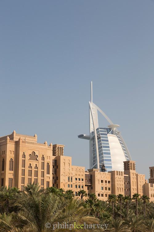 Burj al Arab, seen at the Souk Medinat Jumeirah, United Arab Emirates