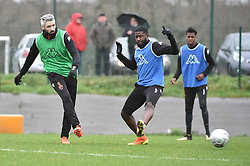 January 9, 2018 - France - Lemoine Fabien (FC Lorient) - Mvuemba Arnold  (Credit Image: © Panoramic via ZUMA Press)