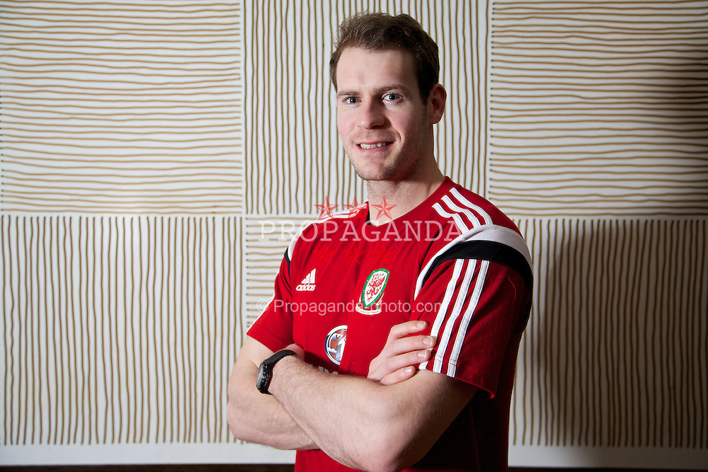 CARDIFF, WALES - Monday, March 3, 2014: Wales' goalkeeper Owain Fon Williams during a media session at the St. David's Hotel ahead of the International Friendly against Iceland. (Pic by David Rawcliffe/Propaganda)