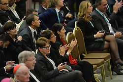 October 5, 2016 - Vatican City, Vatican - Virginia Raggi during Conference Sport at service of humanity, at the Vatican on october 05, 2016  The goal of the conference is to create a forum where leaders from different religious faiths, sports, business, academia and media can discuss how faith and sport can work together to better serve humanity. (Credit Image: © Silvia Lore/NurPhoto via ZUMA Press)
