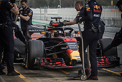 March 1, 2018 - Barcelona, Catalonia, Spain - MAX VERSTAPPEN (NED) in his Red Bull RB14 at the pit stop at day four of Formula One testing at Circuit de Catalunya. (Credit Image: © Matthias Oesterle via ZUMA Wire)