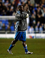 Photo: Daniel Hambury.<br />Reading v West Bromwich Albion. The FA Cup. 17/01/2006.<br />Reading's hatrick hero Leroy Lita with the match ball at the end of the game.