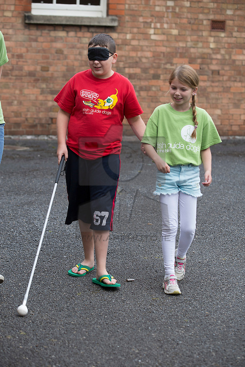 Jamie Lynch (11) from Coolock and Amy Cahill (9) from Clonsilla