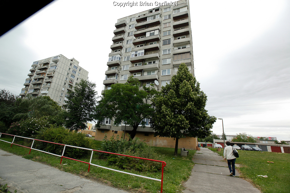 Apartment buildings in Sered, Slovakia on Friday July 1st 2011. (Photo by Brian Garfinkel)