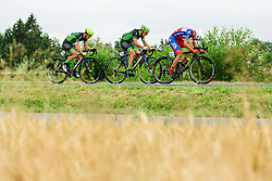 Juraj Bellan of Dukla Banska Bystrica, Martin Haring of Dukla Banska Bystrica and Jon Bozic of Adria Mobil Cycling Team during 1st Stage of 25th Tour de Slovenie 2018 cycling race between Lendava and Murska Sobota (159 km), on June 13, 2018 in  Slovenia. Photo by Vid Ponikvar / Sportida
