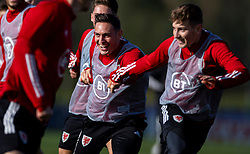 CARDIFF, WALES - Wednesday, October 7, 2020: Wales' Connor Roberts during a training session at the Vale Resort ahead of the International Friendly match against England. (Pic by David Rawcliffe/Propaganda)