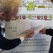 Consultation on Hacknet Downs Station. Representatives from TFL, Groundwork and Repowering London advertise the planned gardens to go on the plantforms and ask commuters for their suggestions on what to grow.  Repowering London and their Energy Garden project in the making. Energy Gardens is a pan-London community garden project where reclaimed land alongside over ground train stations and track are cultivated by local community groups. Up 50 gardens are projected with the rail network being the connection grid. The project is a collaboration between Repowering London, local community groups and station managers working for TFL.