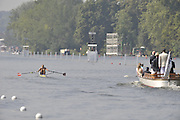 Henley, Great Britain.  NOR M1X,  Olaf TUFTE at the start of a heat of the Diamond Sculls.  Thursday 02/07/2009 at Henley Royal Regatta [Mandatory Credit. Peter Spurrier/Intersport Images] . HRR.