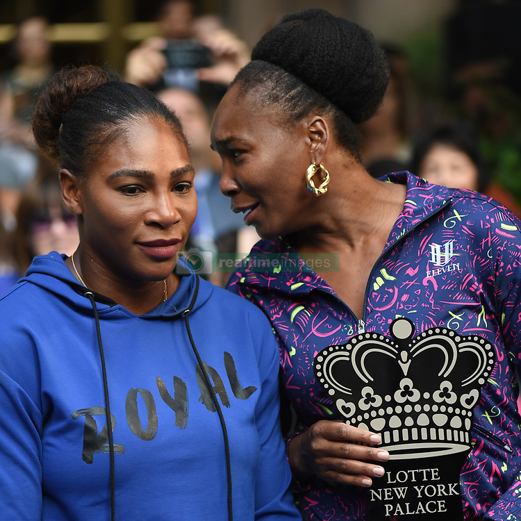 August 23, 2018 - New York, NY, USA - August 23, 2018  New York City..Serena Williams and Venus Williams attending the 4th Annual Palace Invitational at the Lotte Palace Hotel on August 23, 2018 in New York City. (Credit Image: © Kristin Callahan/Ace Pictures via ZUMA Press)