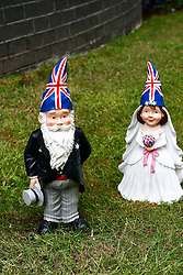 LOCATION, UK  29/04/2011. The Royal Wedding of HRH Prince William to Kate Middleton. .10 Downing Street Wedding Gnomes in the front garden of Number 10 Downing Street..Photo credit should read CRAIG SHEPHEARD/LNP.