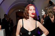 CHARLOTTE DELLAL, The Surrealist Ball in aid of the NSPCC. Hosted by Lucy Yeomans and Harry Blain. Banqueting House. Whitehall. 17 March 2011. -DO NOT ARCHIVE-© Copyright Photograph by Dafydd Jones. 248 Clapham Rd. London SW9 0PZ. Tel 0207 820 0771. www.dafjones.com.