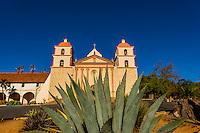 Century plant (Agave Americana), Mission Santa Barbara, Santa Barbara, California USA.