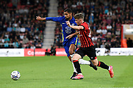Ruben Loftus-Cheek (12) of Chelsea battles for possession with Gavin Kilkenny (26) of AFC Bournemouth during the Pre-Season Friendly match between Bournemouth and Chelsea at the Vitality Stadium, Bournemouth, England on 27 July 2021.