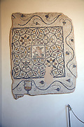 Mosaic on wall, Archaeological museum, Rhodes, Greece