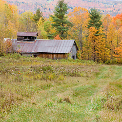 Mountain View Farm in fall in Vermont's Northeast Kingdom.  East Burke.