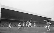 Roscommon's B Kyne and J Kelly go for the ball in the the Kerry goalmouth during the All Ireland Senior Gaelic Football Championship Final Kerry v Roscommon in Croke Park on the 23rd September 1962. Kerry 1-12 Roscommon 1-6.