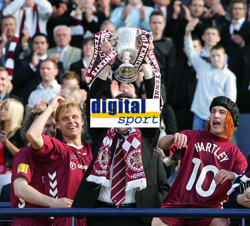 Photo: Andrew Unwin.<br /> Hearts v Gretna. Tennants Scottish Cup Final. 13/05/2006.<br /> Hearts' manager, Valdas Ivanauskas.