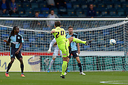 Dan Jones of Hartlepool United takes a shot outside the box. Skybet football league two match, Wycombe Wanderers v Hartlepool Utd at Adams Park in High Wycombe, Bucks on Saturday 5th Sept 2015.<br /> pic by John Patrick Fletcher, Andrew Orchard sports photography.
