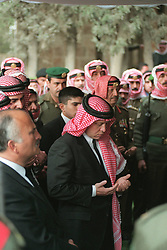 King Abdullah bin Al Hussein (center) seen during funeral in Amman, Jordan on February 8, 1999. Twenty years ago, end of January and early February 1999, the Kingdom of Jordan witnessed a change of power as the late King Hussein came back from the United States of America to change his Crown Prince, only two weeks before he passed away. Photo by Balkis Press/ABACAPRESS.COM