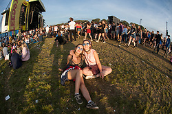 Festival goers on day 3 of Leeds Festival a Bramham Park, UK. Picture date: Sunday 27 August, 2017. Photo credit: Katja Ogrin/ EMPICS Entertainment.