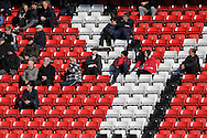 a general view of empty seats and the Low attendance at The Valley Stadium. Skybet football league championship match, Charlton Athletic v Brighton & Hove Albion at The Valley  in London on Saturday 23rd April 2016.<br /> pic by John Patrick Fletcher, Andrew Orchard sports photography.