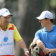 Rory McIlroy in action during the ProAm at The Barclays Golf Tournament at The Ridgewood Country Club, Paramus, New Jersey, USA. USA. 20th August 2014. Photo Tim Clayton