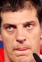 GEPA-0706081330 - WIEN,AUSTRIA,07.JUN.08 - FUSSBALL - UEFA Europameisterschaft, Vorbereitung auf die EURO 2008, Nationalteam Kroatien, Pressekonferenz. Bild zeigt Teamchef Slaven Bilic (CRO).<br />Foto: GEPA pictures/ Guenter R. Artinger