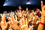 Fans cheer for The Red Hot Chili Peppers performance at Irving Plaza in Manhattan, NY. They have released a new album. 5/8/2006 Photo by Jennifer S. Altman