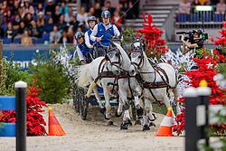 CHARDON Bram (NED), Dreef Inca, Dreef Kapitany, Favory Xxxxi, Favory, Farao<br /> Genf - CHI Geneve Rolex Grand Slam 2019<br /> Prix Brasserie Egger<br /> FEI World Cup Vierspänner<br /> Pre-qualification for the FEI World Cup™ Driving<br /> 14. Dezember 2019<br /> © www.sportfotos-lafrentz.de/Stefan Lafrentz