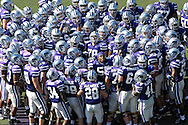 The Kansas State Wildcats get fired up before their game with Oklahoma State at Bill Snyder Family Stadium in Manhattan, Kansas, October 7, 2006.  The Wildcats beat the Cowboys 31-27.<br />