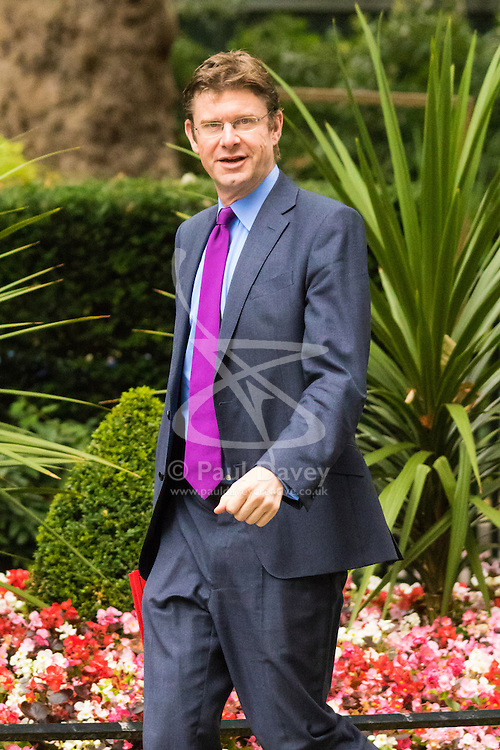 Downing Sreet, London, July14th 2015. Greg Clark MP - Secretary of State for Communities and Local Government arrives at 10 Downing street for the government's weekly cabinet meeting.