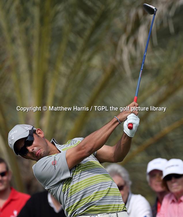 Pablo LARAZZABAL (ESP) during fourth round HSBC Abu Dhabi Championship 2014,Abu Dhabi Golf Club,Abu Dhabi,UAE.