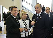 Moscow, Russia, 09/05/2005..Formal reception in the Kremlin hosted by Russian President Vladimir Putin and wife Ludmilla on the 60th anniversary of victory in the Great Patriotic War. German Chancellor Gerhard Schroeder and French President Jaques Chirac.