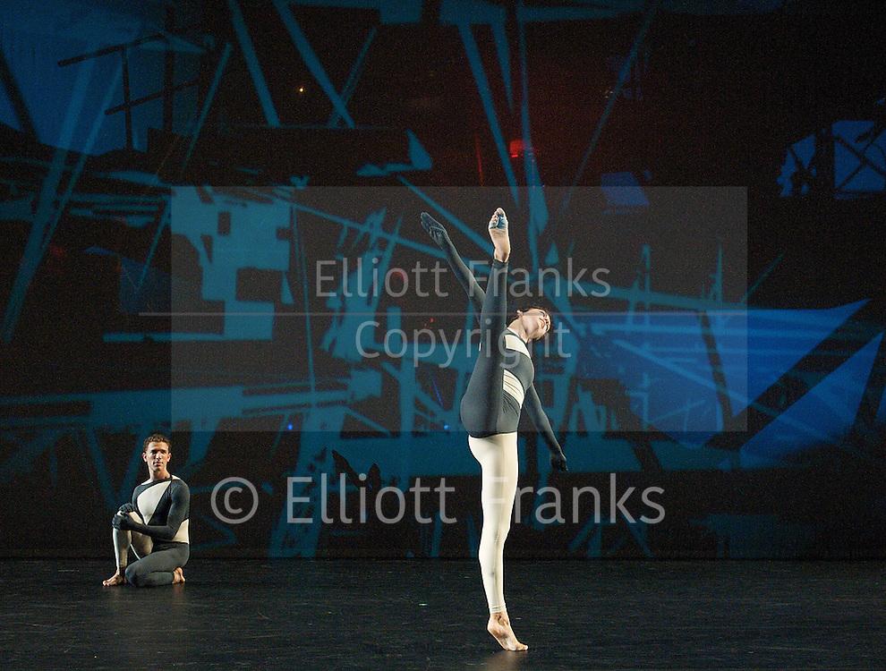 Nearly Ninety<br /> The Merce Cunningham Dance Company <br /> choreography by Merce Cunningham<br /> at The Barbican Theatre, London, Great Britain <br /> rehesrsal <br /> 26th October 2010 <br /> <br /> <br /> <br /> Daniel Madoff<br /> Narcie Munnerlyn<br /> <br /> <br /> <br /> Photograph by Elliott Franks<br /> 2010©Elliott Franks