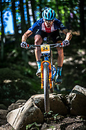 Team USA during practice at the 2019 UCI MTB World Championships in Mont-Sainte-Anne, Canada.