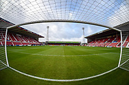 General view of the County Ground from the goal during the The FA Cup 2nd round match between Swindon Town and Woking at the County Ground, Swindon, England on 2 December 2018.