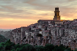 Pitilgiano sunset in southern Tuscany.  This cool little relic is coming back to life after a near desertion.  It wold have been such a shame to see this 2,000 year old city rot into the ground.