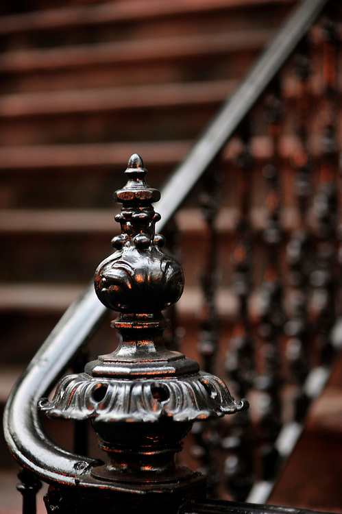 Savannah is rich with original wrought iron architectural details such as this hand rail on an historic home in historic downtown Savannah, Ga. (Photo by Stephen Morton)
