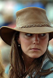 Kate Middleton, girlfriend of Prince William, attends the second day of the Gatcombe Park Festival of British Eventing at Gatcombe Park near Tetbury, England.<br />Anwar Hussein/allactiondigital.com<br /><br /> *** Local Caption *** Zara Phillips